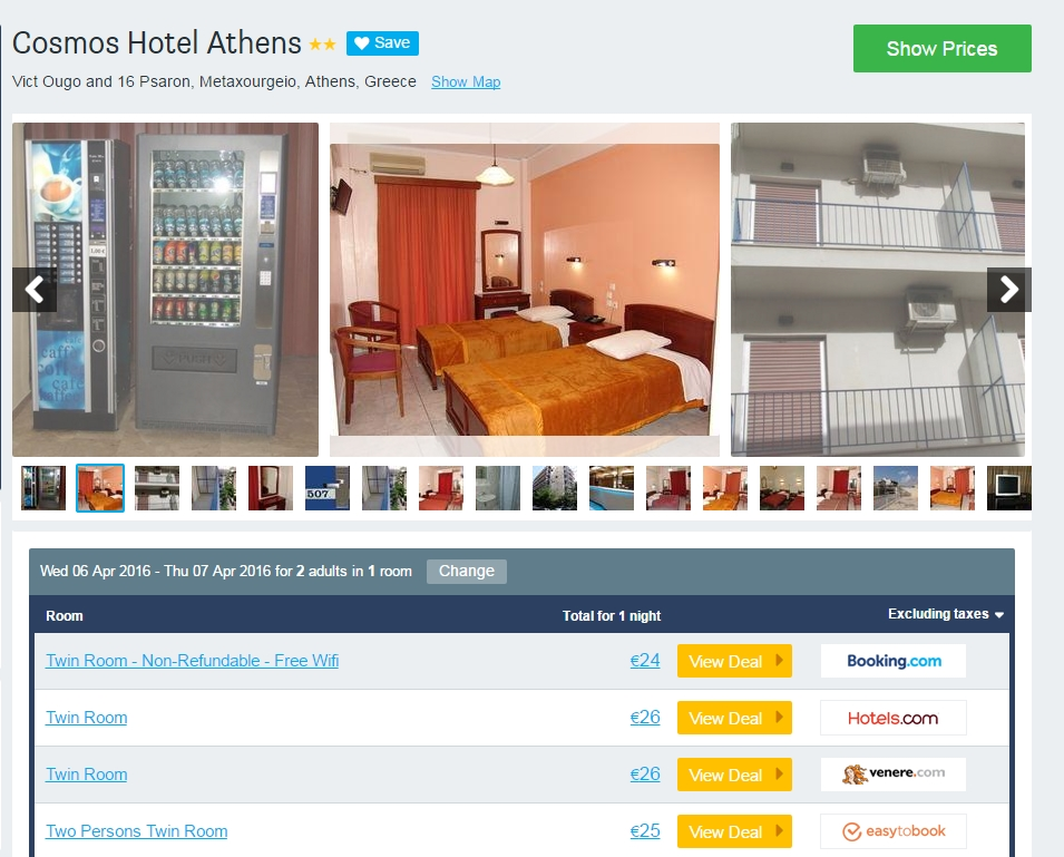 Hotel Cosmos Atena DAY 1