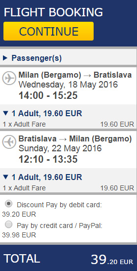 Milano Bratislava Milano