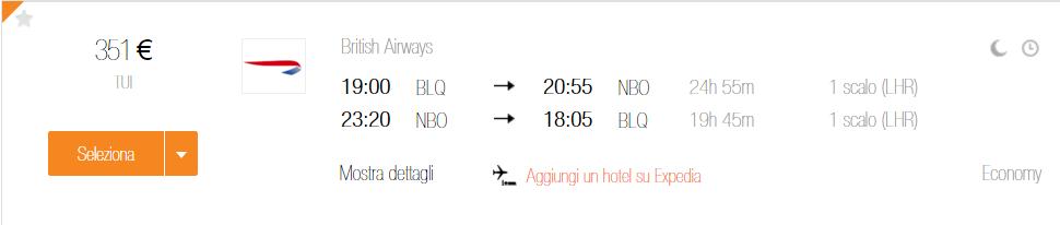 Bologna Nairobi