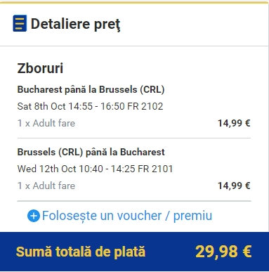 Bucuresti - Bruxelles