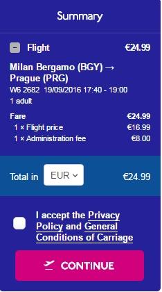 Milano -Praga 25 euro