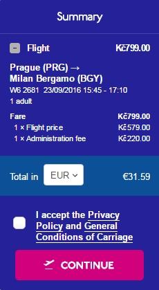 Praga Milano 32 euro