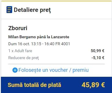 BGY LANZAROTE 46 euro
