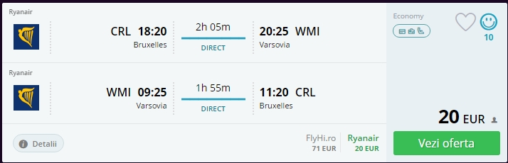 Bruxelles - Varsovia