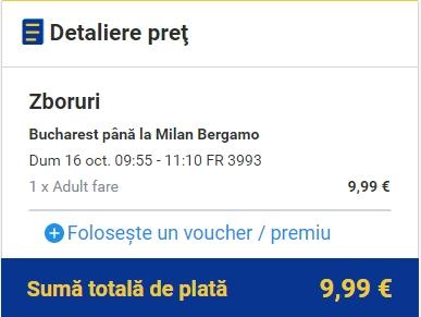 OTP - BGY 10 euro