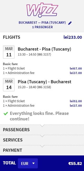 Bucuresti Pisa